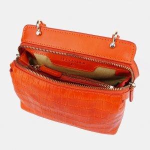 Удобный оранжевый женский клатч ATS-3653 211749