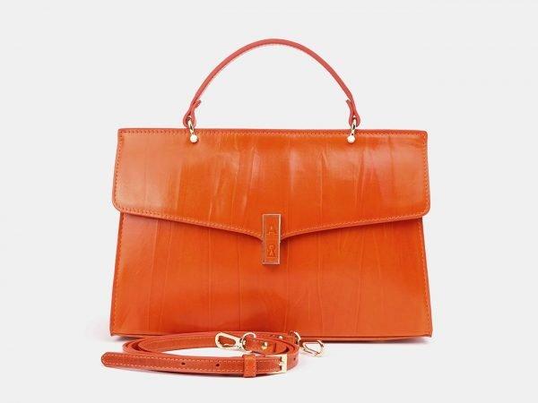 Уникальная оранжевая женская сумка ATS-3657