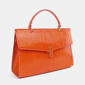 Солидная оранжевая женская сумка ATS-3657