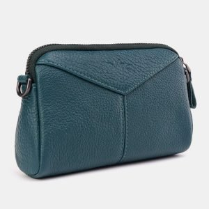 Деловой зеленый женский клатч ATS-3645