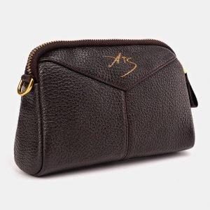 Функциональный коричневый женский клатч ATS-3646 211777