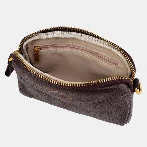 Функциональный коричневый женский клатч ATS-3646 211779