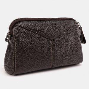 Солидный коричневый женский клатч ATS-3649 211767