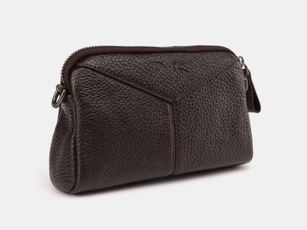 Стильный коричневый женский клатч ATS-3649