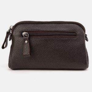 Солидный коричневый женский клатч ATS-3649 211768
