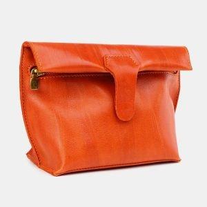 Деловой оранжевый женский клатч ATS-3656 211732