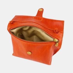 Деловой оранжевый женский клатч ATS-3656 211734