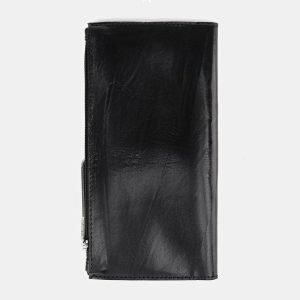 Уникальный черный портмоне с росписью ATS-3660 211713