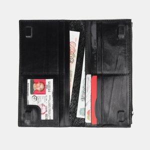 Уникальный черный портмоне с росписью ATS-3660 211714