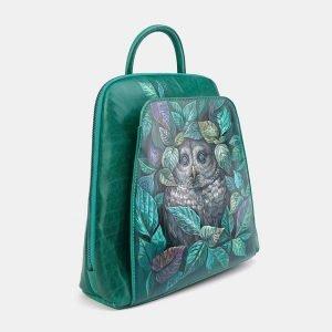 Модный зеленый рюкзак с росписью ATS-3696 211547