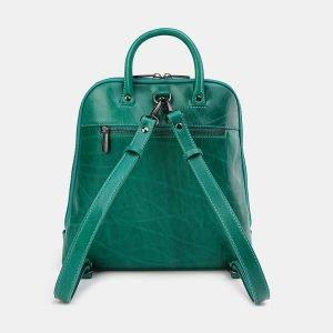 Модный зеленый рюкзак с росписью ATS-3696 211549