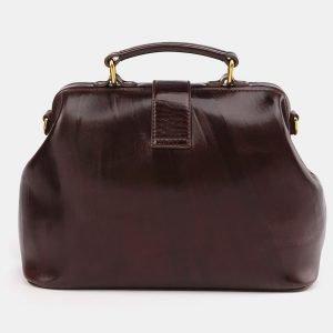 Кожаная коричневая сумка с росписью ATS-3695 211553