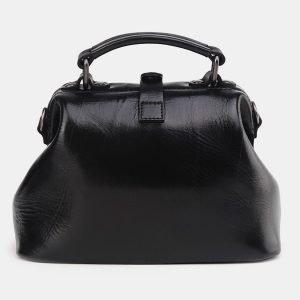 Вместительная черная сумка с росписью ATS-3693 211563