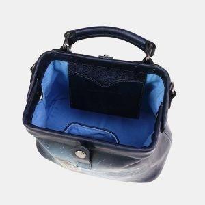 Модная синяя сумка с росписью ATS-3694 211559