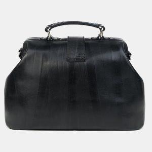 Кожаная черная сумка с росписью ATS-3218 213236
