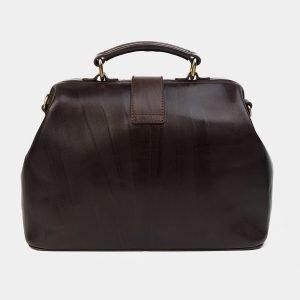 Солидная коричневая сумка с росписью ATS-1758 216384