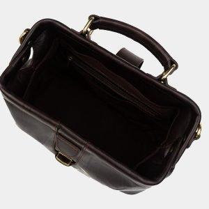 Солидная коричневая сумка с росписью ATS-1758 216385