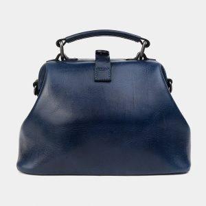 Вместительная синяя сумка с росписью ATS-1228 216959