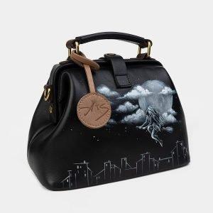Неповторимая черная сумка с росписью ATS-2510 215072