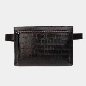 Уникальная коричневая женская сумка на пояс ATS-3266