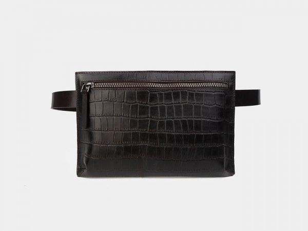 Функциональная коричневая женская сумка на пояс ATS-3266