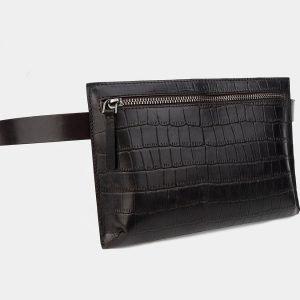 Функциональная коричневая женская сумка на пояс ATS-3266 213069