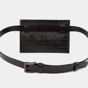 Функциональная коричневая женская сумка на пояс ATS-3266 213070
