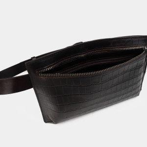 Функциональная коричневая женская сумка на пояс ATS-3266 213071