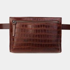 Деловая светло-коричневая женская сумка на пояс ATS-3265