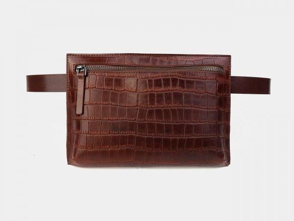 Солидная светло-коричневая женская сумка на пояс ATS-3265