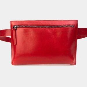 Модная красная женская сумка на пояс ATS-3264