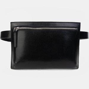 Функциональная черная женская сумка на пояс ATS-3262