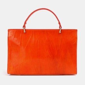 Солидная оранжевая сумка с росписью ATS-3679 211624
