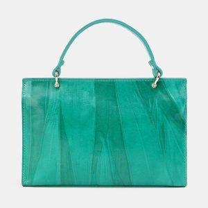 Деловой зеленый клатч с росписью ATS-3680 211619
