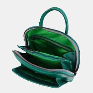 Стильный зеленый рюкзак с росписью ATS-3676 211639