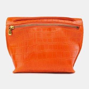 Солидный оранжевый женский клатч ATS-3684