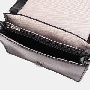 Кожаная черная женская сумка на пояс ATS-3690 211577
