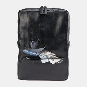 Удобный черный рюкзак с росписью ATS-3711