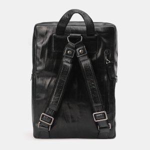 Модный черный рюкзак с росписью ATS-3711 211507
