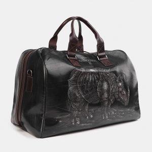 Уникальная черная сумка с росписью ATS-3708