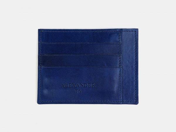 Уникальная голубовато-синяя визитница ATS-3545