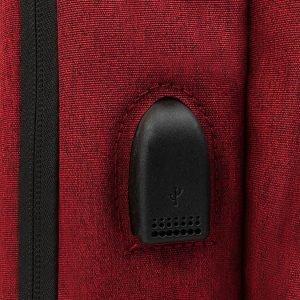 Кожаный бордовый рюкзак из пвх ATS-3277 213028