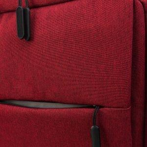 Кожаный бордовый рюкзак из пвх ATS-3277 213029