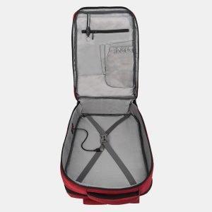 Кожаный бордовый рюкзак из пвх ATS-3277 213027