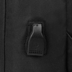 Деловой черный рюкзак из пвх ATS-3279 213014