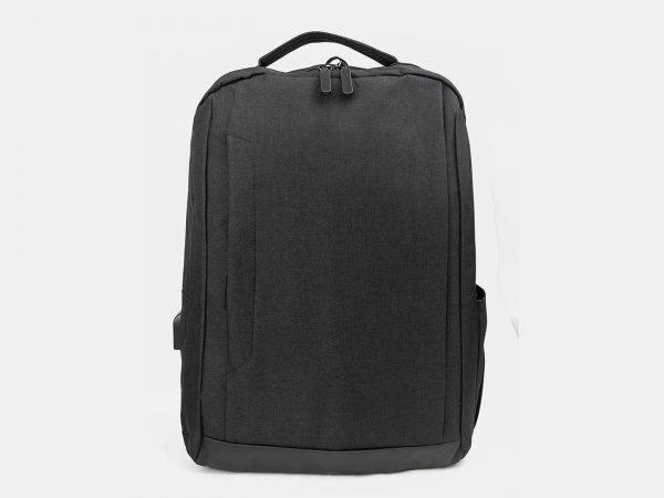 Кожаный черный рюкзак из пвх ATS-3281