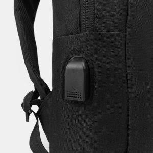 Кожаный черный рюкзак из пвх ATS-3281 213000