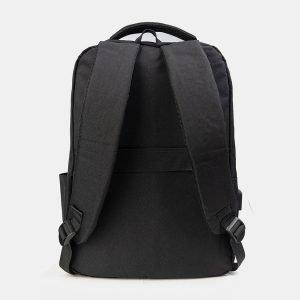 Кожаный черный рюкзак из пвх ATS-3281 212998