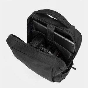 Кожаный черный рюкзак из пвх ATS-3281 212999