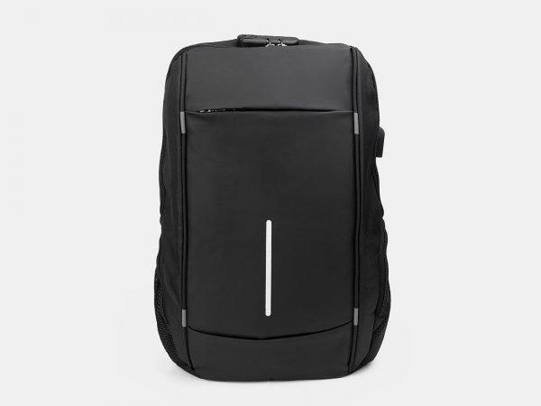 Модный черный рюкзак из пвх ATS-3283